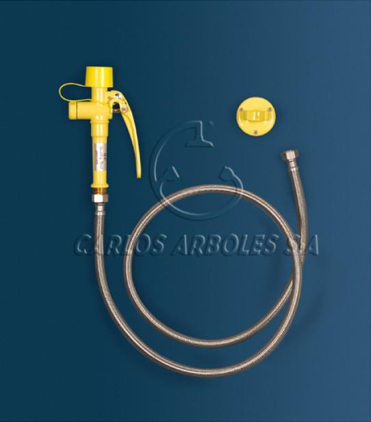 Drench hose single spray eyewash, includes wall bracket