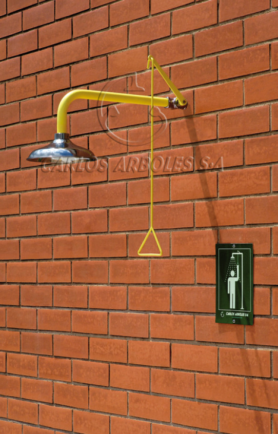 Ducha horizontal, montaje pared, rociador inox