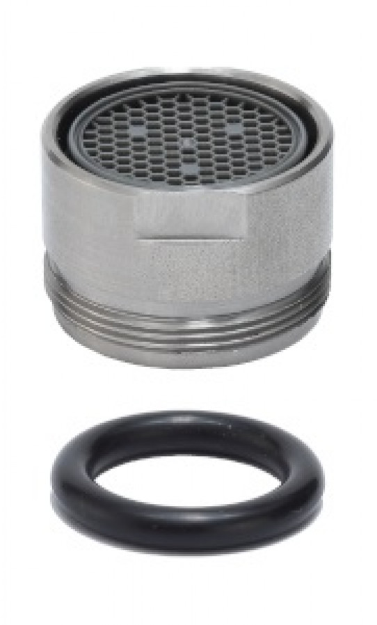 Eyewash head in stainless steel, with o-ring and aerator