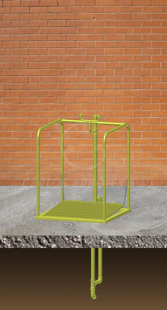 Eyewash platform, underground water supply