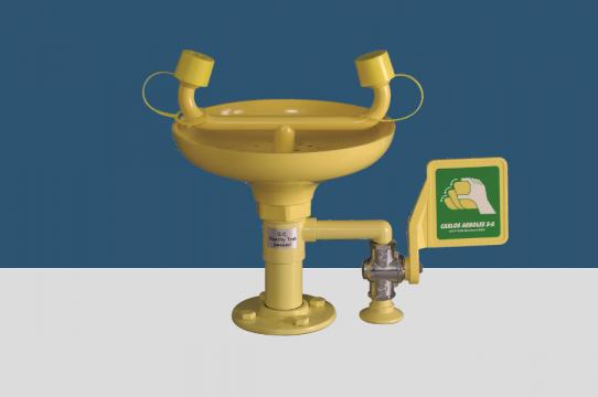 Eyewash, table mounting, ABS bowl