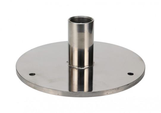 Floor mounting flange in stainless steel