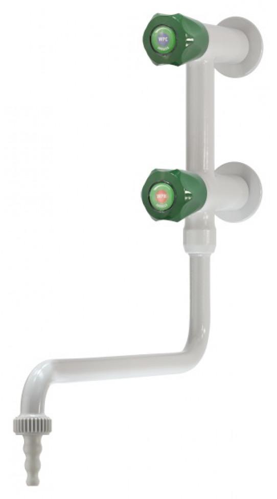 Mesclador aigua freda i calenta vertical, muntatge mural, tub giratori inferior, difusor cambiable