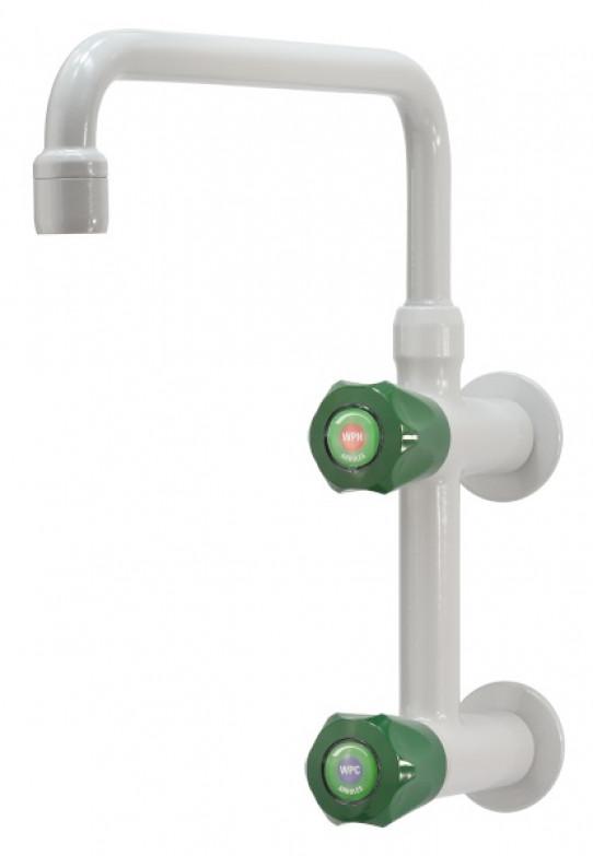 Mesclador aigua freda i calenta vertical, muntatge mural, tub giratori superior, airejador