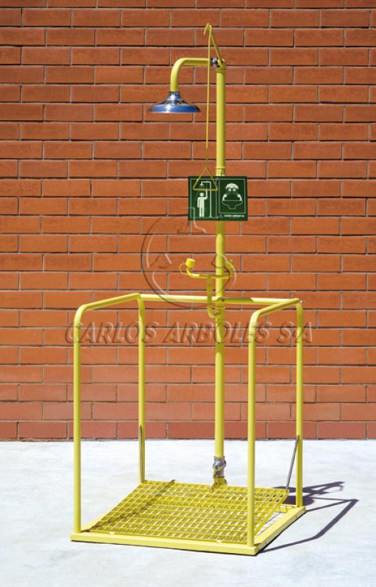 Plataforma amb dutxa i rentaulls, autobuidat, funcionament independent, ruixador inox