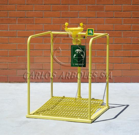 Plataforma Lavaojos, recogedor ABS