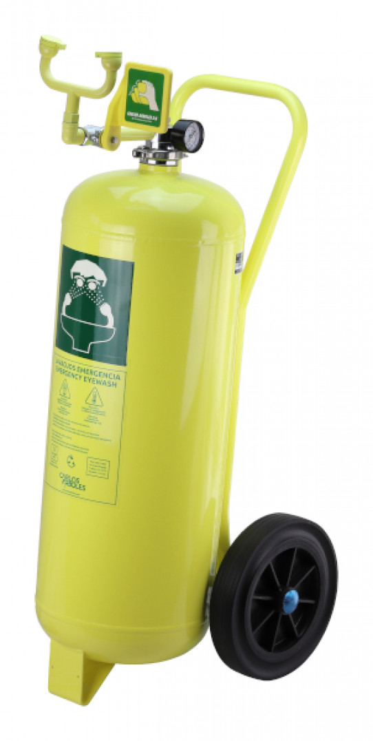 Pressurized portable Eyewash