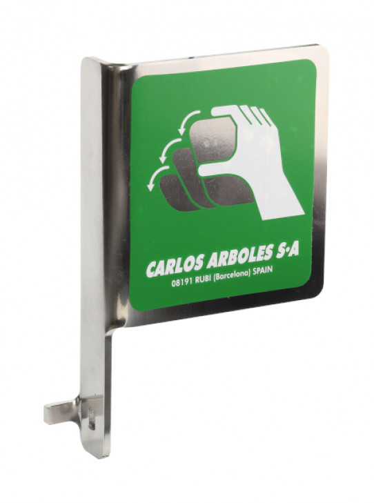 Push handle in stainless steel