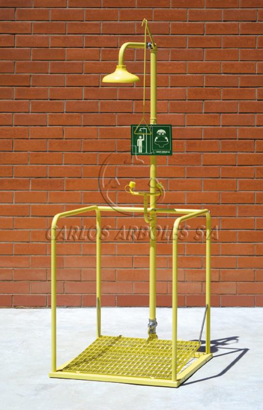 Shower and Eyewash platform, independent operation, ABS shower head
