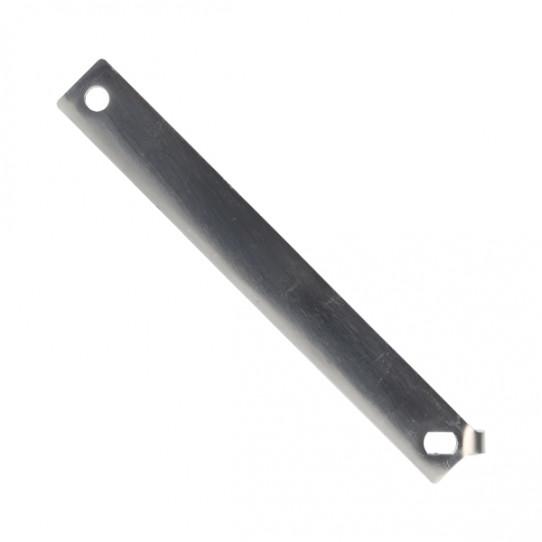 Shower handle in stainless steel (vertical valve)