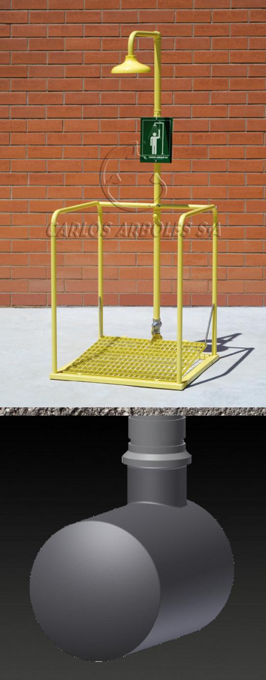 Shower platform, underground tank, ABS shower head