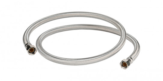Stainless steel braided PE tube for double spray eyewash
