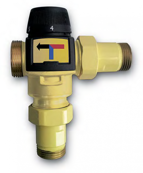 Thermostatic valve 122 lpm at Δ2 bar