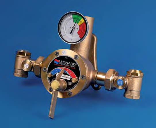 Thermostatic valve 350 lpm at Δ2 bar