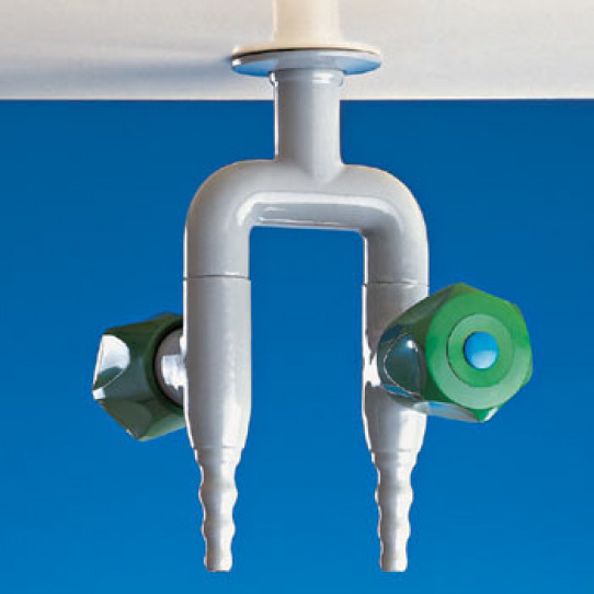 Two way opposite taps for water, pendant mounted