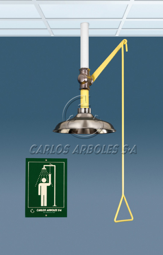 Vertical shower, ceiling mounting, stainless steel shower head