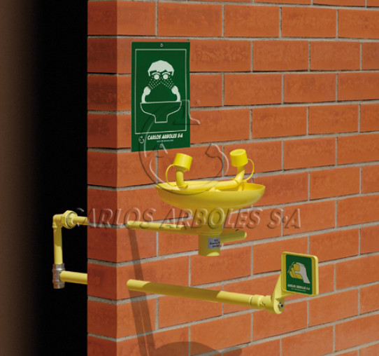Wall mounting Eyewash, indoor water supply, ABS bowl