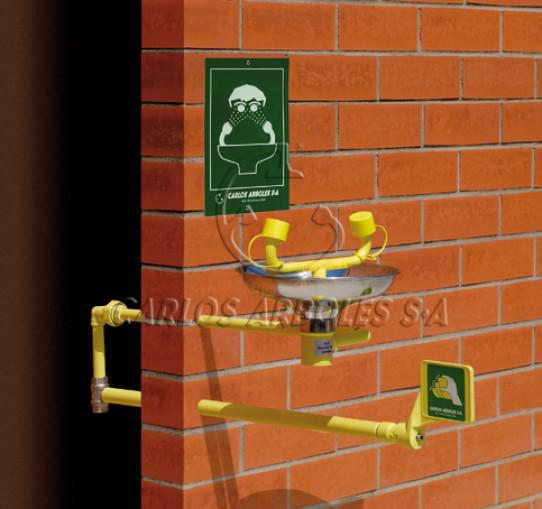 Wall mounting Eyewash, indoor water supply, SS bowl