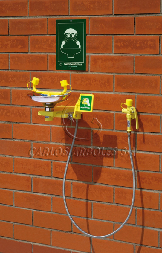 Wall mounting Eyewash, SS bowl, includes spray unit